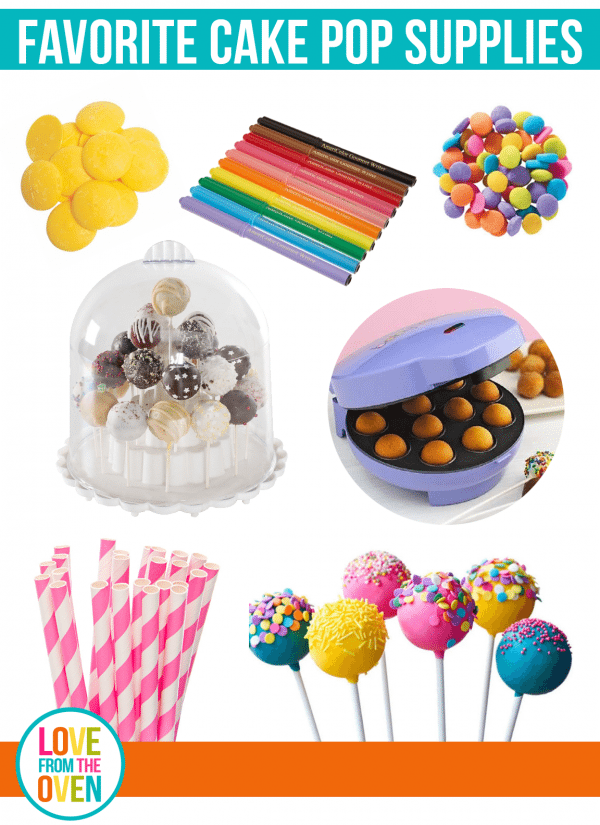 My favorite suppies, tools and ingredients for making cake pops.