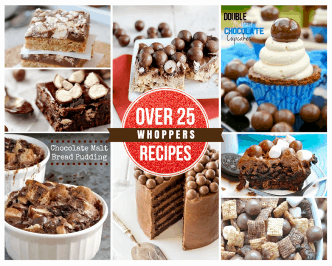 Over 25 Recipes Using Whoppers
