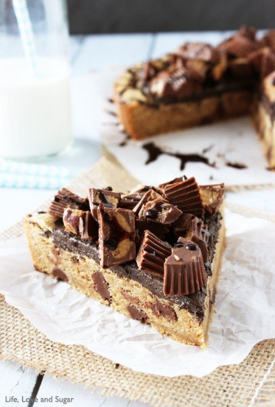 Reese's Peanut Butter Cup Chocolate Chip Cookie Cake