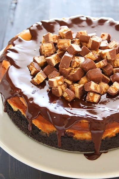 Snickers Cheesecake From Handle The Heat