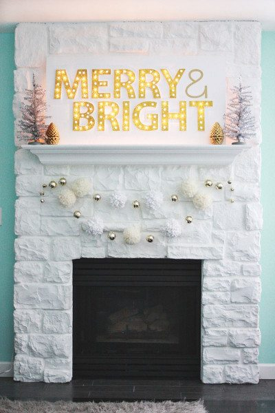 Merry And Bright DIY Light Up Sign