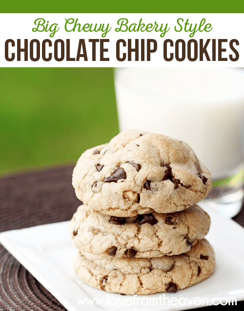 Big Chewy Bakery Style Chocolate Chip Cookie Recipe