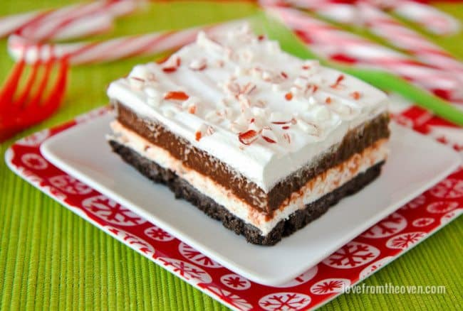 Chocolate Candy Cane Striped Dessert