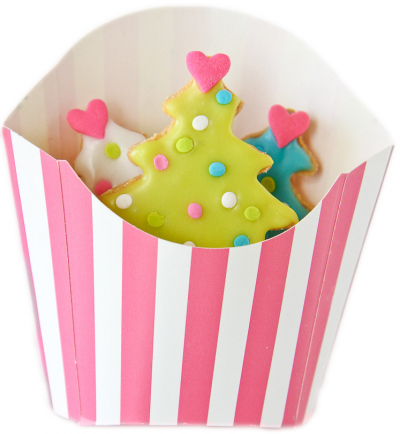 Striped Fry Box For Cookies