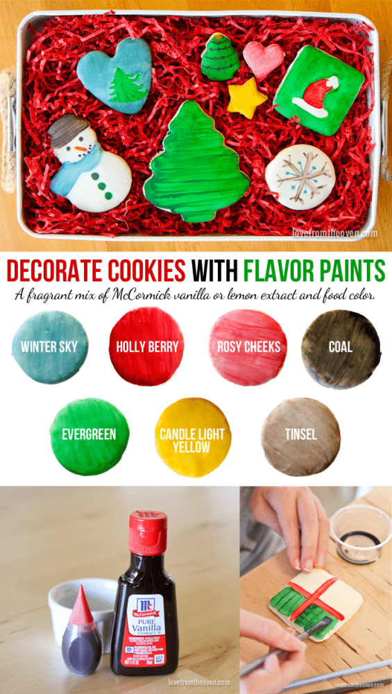 Decorate Cookies With Flavor Paints