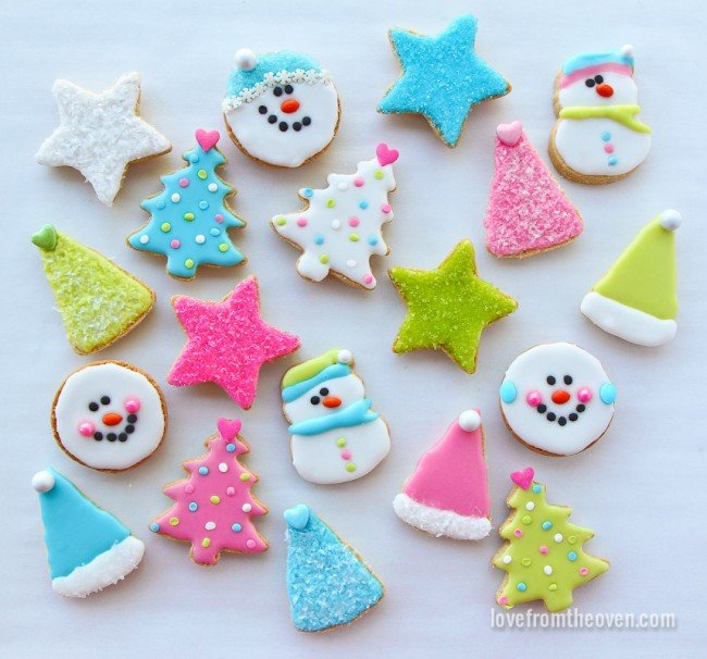 easy christmas cookies - Decorated Christmas Sugar Cookies