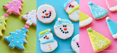 Easy ideas for decorating Christmas Cookies.