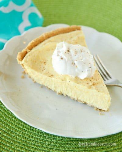 Eggnog Pie Recipe