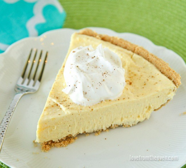 Easy Eggnog Pie | Best Pie Recipes Ever: Perfect For Christmas And Special Holidays