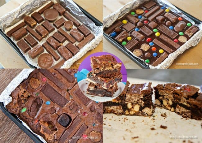 Crazy Candy Bar Brownies