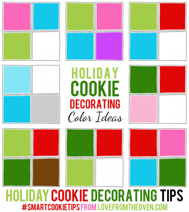 Holiday Cookie Decorating Tips. Christimas cookie color combo ideas! #smartcookietips