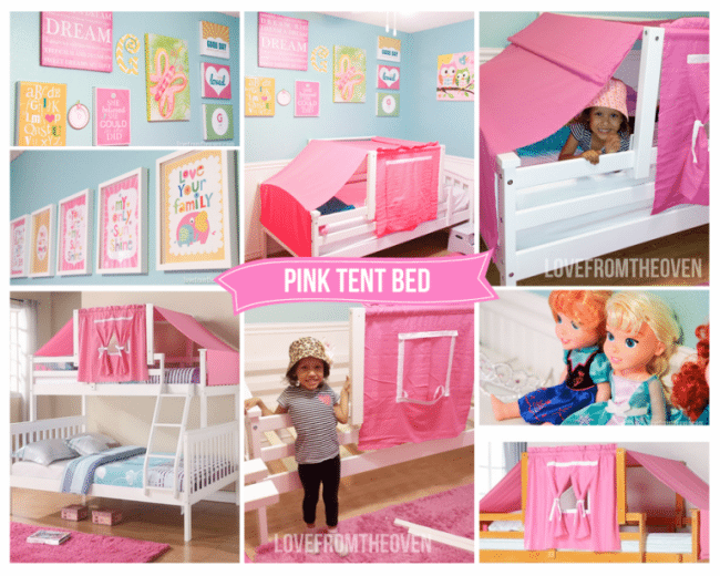 Pink Tent Bed