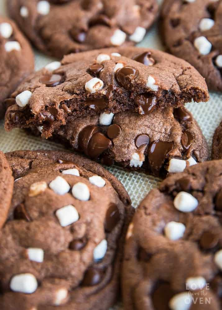 Hot Chocolate Cookies Love From The Oven