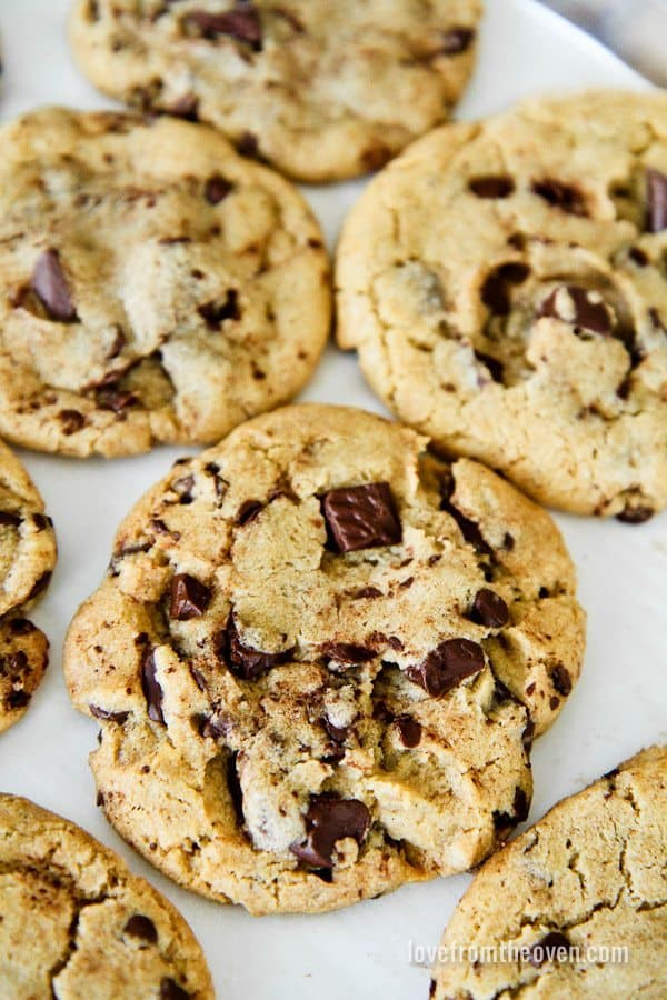 Brown Butter Bakery Style Cookies