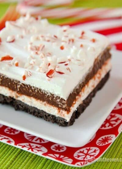 No Bake Chocolate And Peppermint Dessert