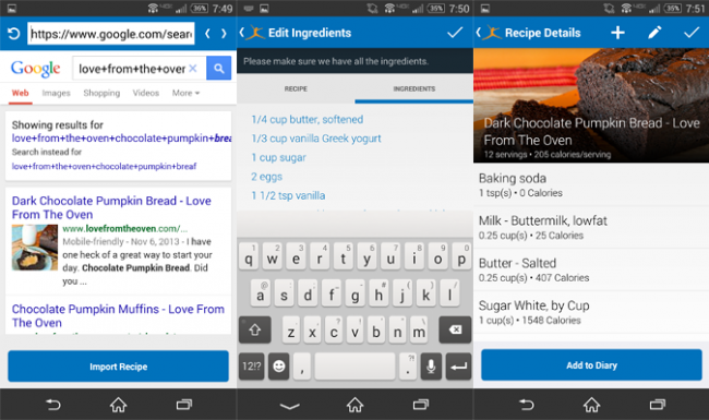 MyFitnessPal can convert recipes for you for their nutritional data