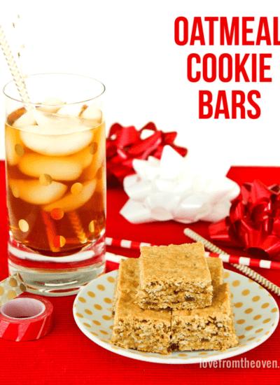 Oatmeal Cookie Bars #BeMoreTea