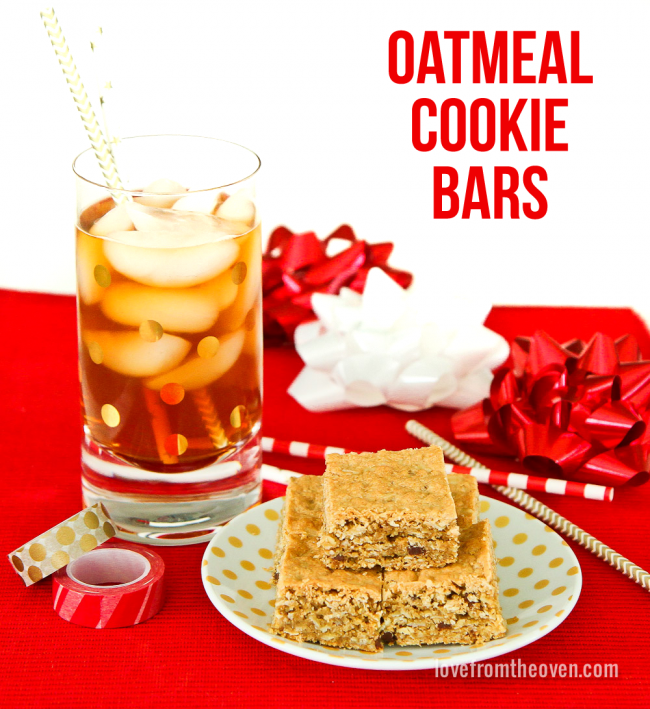 Oatmeal Cookie Bars #BeMoreTea