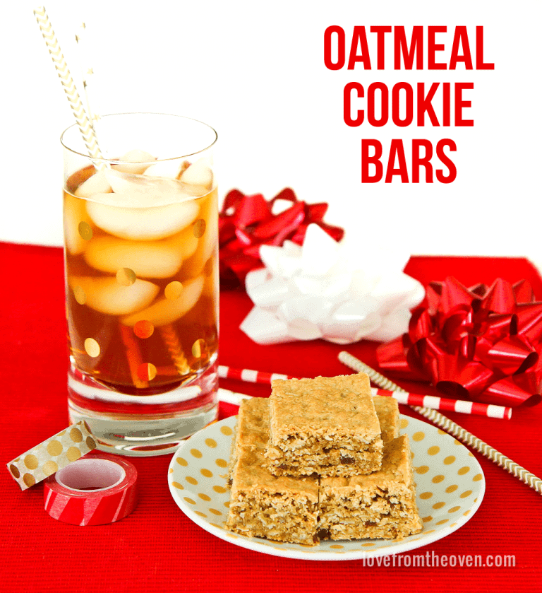 Oatmeal Cookie Bars - Love From The Oven