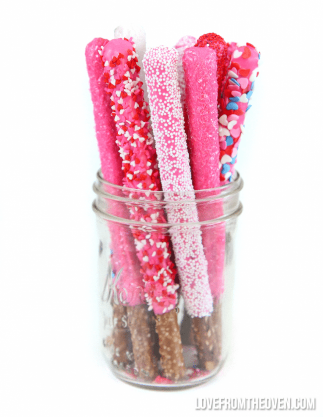 Chocolate pretzel rods