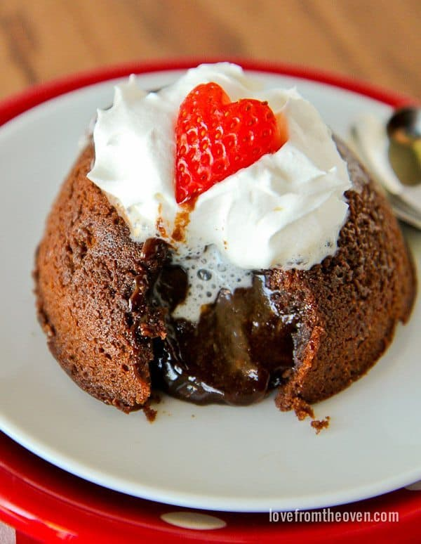 Molten Chocolate Cake - Love From The Oven