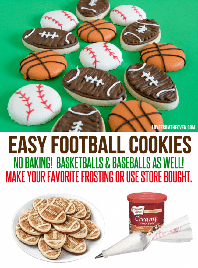 Easy Football Cookies by Love From The Oven