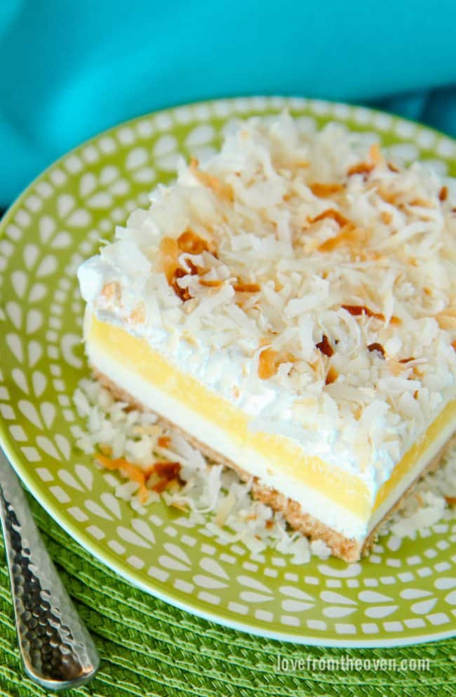 Coconut Cream Cheesecake Dessert