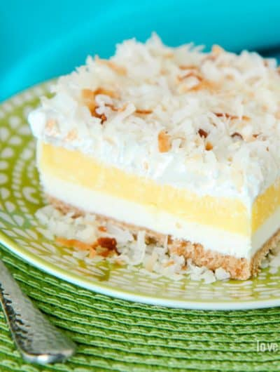 Coconut Cream Layered Dessert