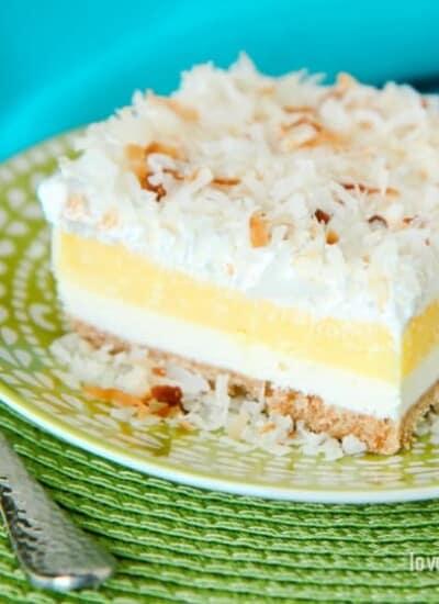 Coconut Cream Layered Dessert