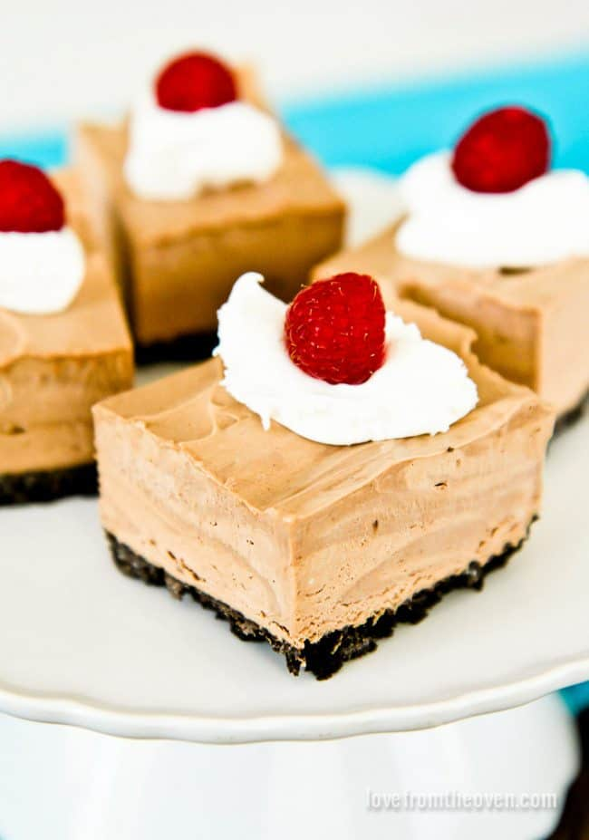 No Bake Chocolate Mousse Squares