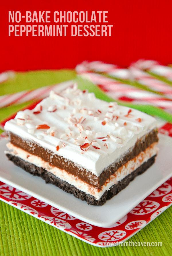 No Bake Chocolate Striped Dessert