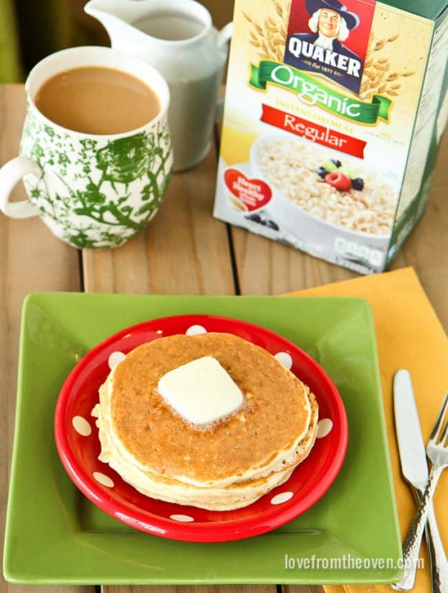 Oatmeal Packet Pancakes