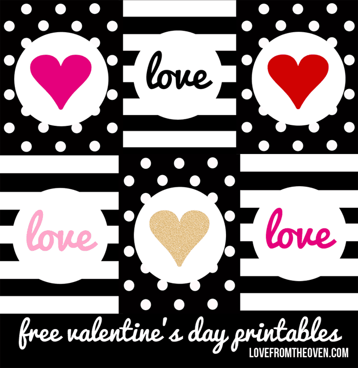 free valentine's day printables - love from the oven, Ideas