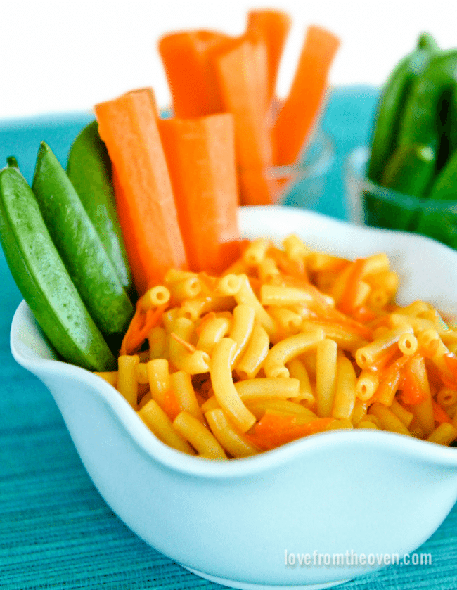 Mac And Cheese With Veggies Dippers For Picky Eaters