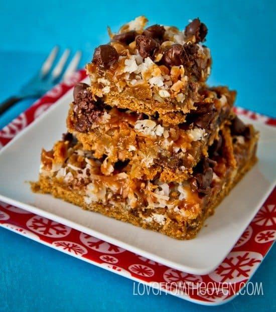 Caramel Pretzel Magic Cookie Bar