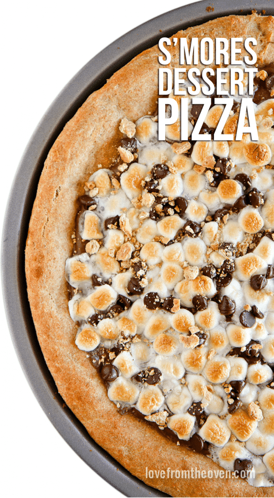 Easy S'mores Dessert Pizza