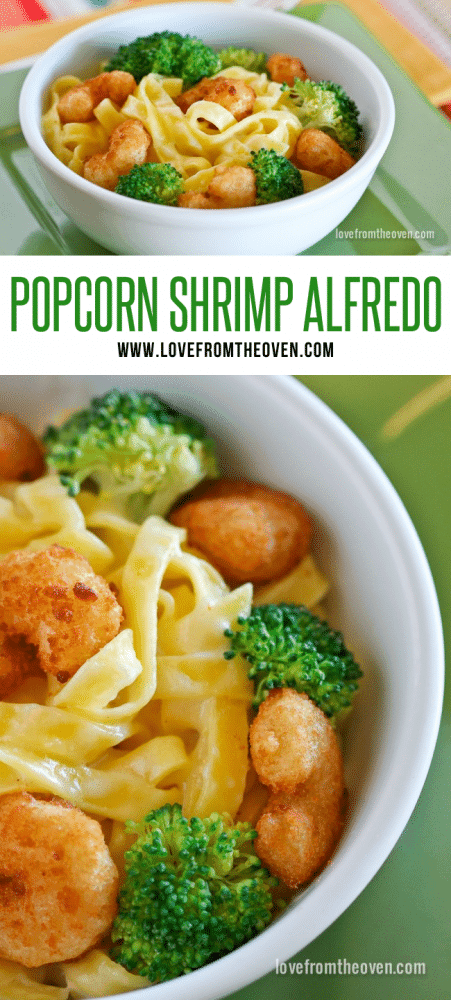 Easy Popcorn Shrimp Alfredo