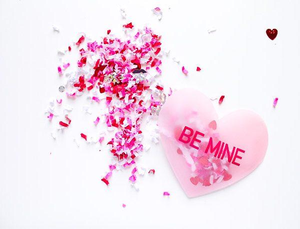 Confetti Conversation Heart Valentine