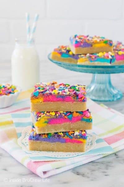 Unicorn Sugar Cookie Bars