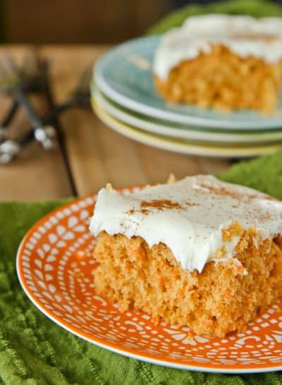 Light Carrot Cake Made With Applesauce