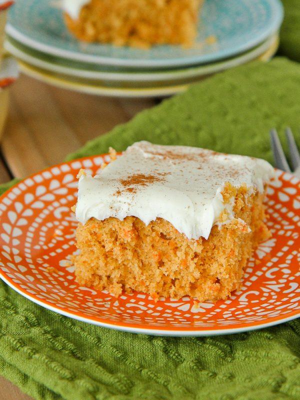 Lighter Carrot Cake