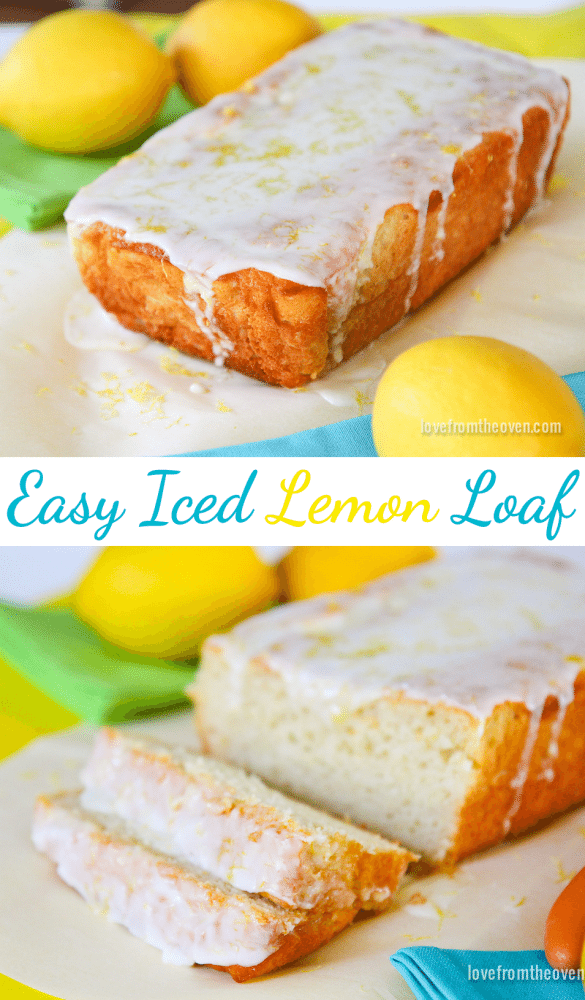 Easy Iced Lemon Loaf Recipe