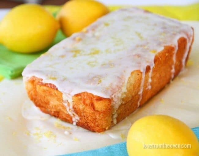 Recipe for Lemon Pound Cake Bread