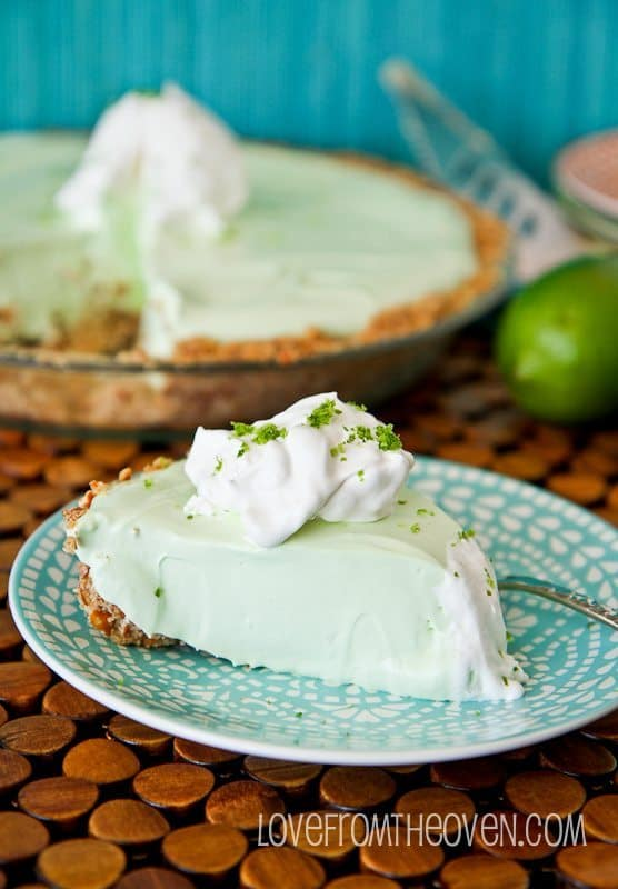 Key Lime Margarita Pie With Pretzel Crust
