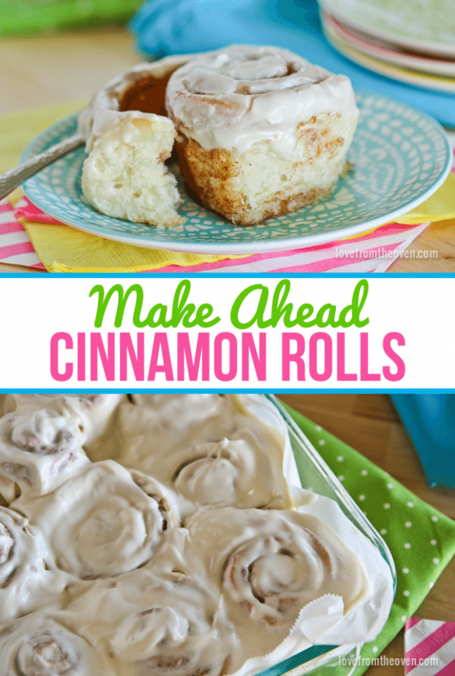 Make Ahead Cinnamon Rolls. This is great for making one day and baking the following morning for fresh cinnamon rolls.