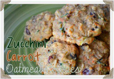Zucchini Carrot Oatmeal Cookies