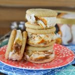 Caramel Snickerdoodle Ice Cream Sandwiches