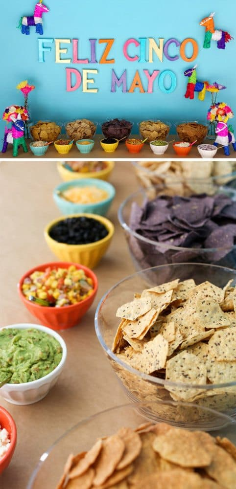 Cinco De Mayo party ideas. Love the nacho bar idea!