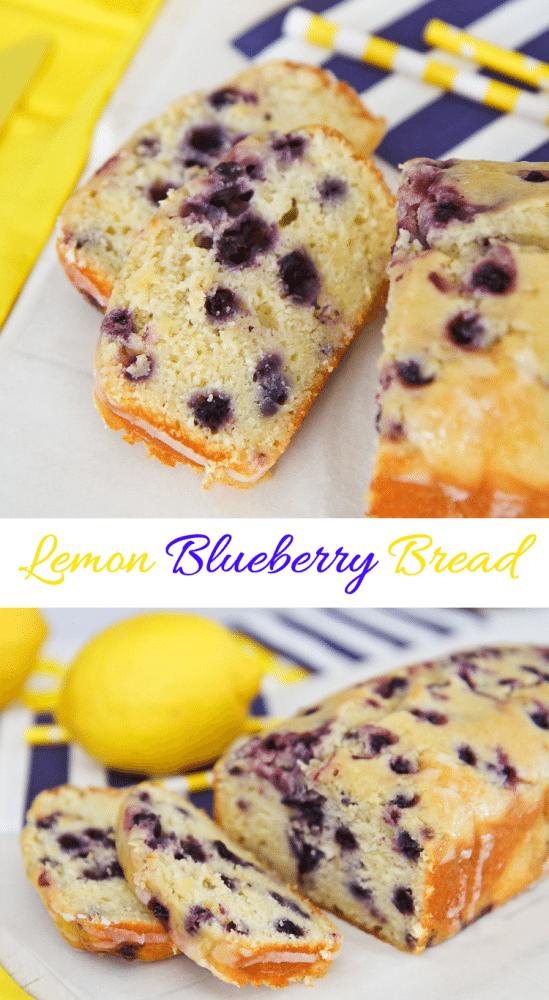 Easy Iced Lemon Blueberry Bread Recipe