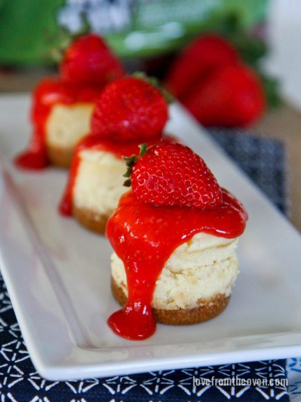 Mini Strawberry Cheesecakes